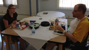 """Our daughter having a """"Daddy Daughter Date"""" while he was recovering at inpatient rehabilitation"""