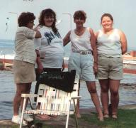 Some of the strongest women in my life! This was 2 years before my mom died. L-R: Grandma, Amy (sister-pregnant), Mom, Brandy-Sue